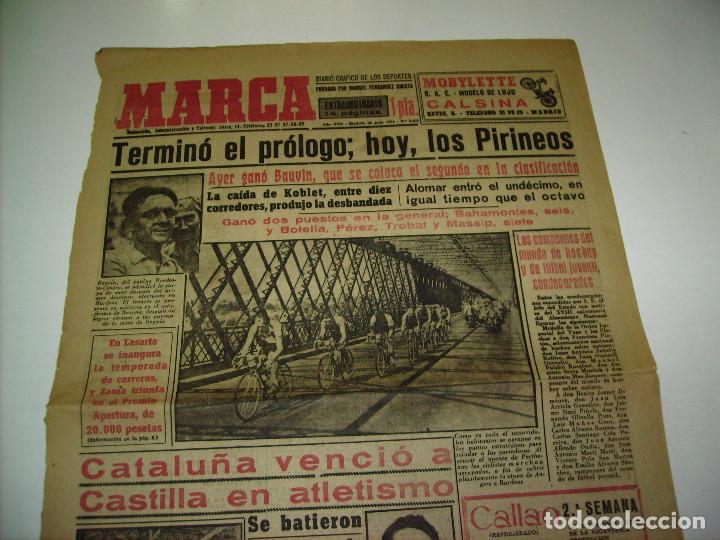 Coleccionismo deportivo: 29 PORTADAS DIARIO MARCA AÑOS 1954 Y 1955 - Foto 8 - 189396445