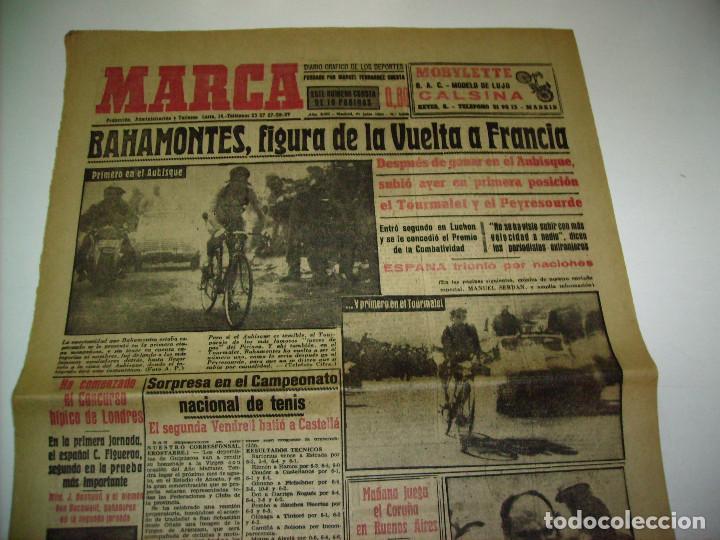 Coleccionismo deportivo: 29 PORTADAS DIARIO MARCA AÑOS 1954 Y 1955 - Foto 9 - 189396445