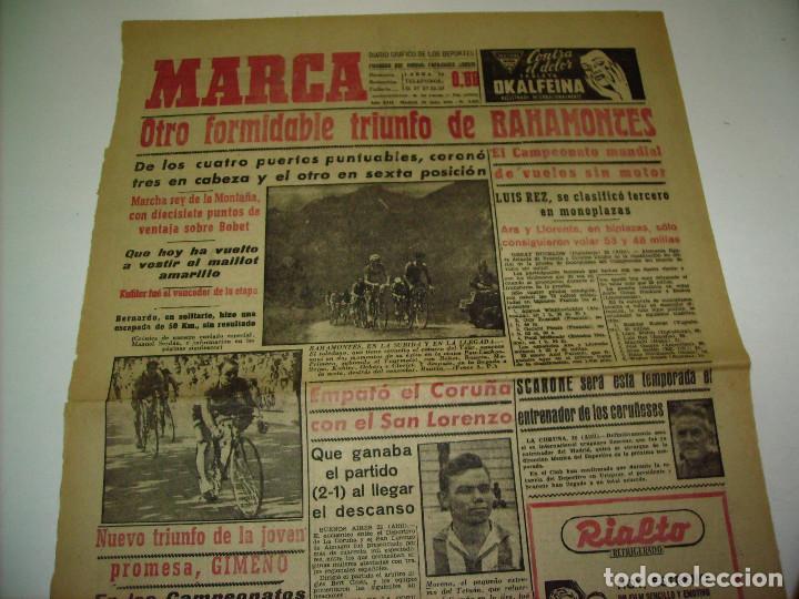 Coleccionismo deportivo: 29 PORTADAS DIARIO MARCA AÑOS 1954 Y 1955 - Foto 11 - 189396445