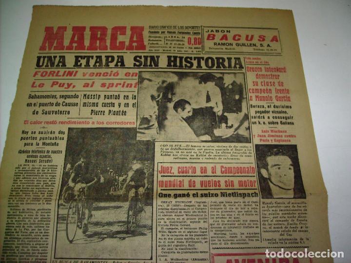 Coleccionismo deportivo: 29 PORTADAS DIARIO MARCA AÑOS 1954 Y 1955 - Foto 12 - 189396445