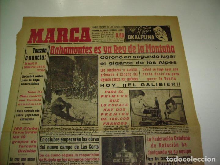 Coleccionismo deportivo: 29 PORTADAS DIARIO MARCA AÑOS 1954 Y 1955 - Foto 14 - 189396445