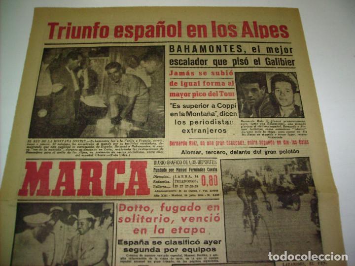 Coleccionismo deportivo: 29 PORTADAS DIARIO MARCA AÑOS 1954 Y 1955 - Foto 15 - 189396445