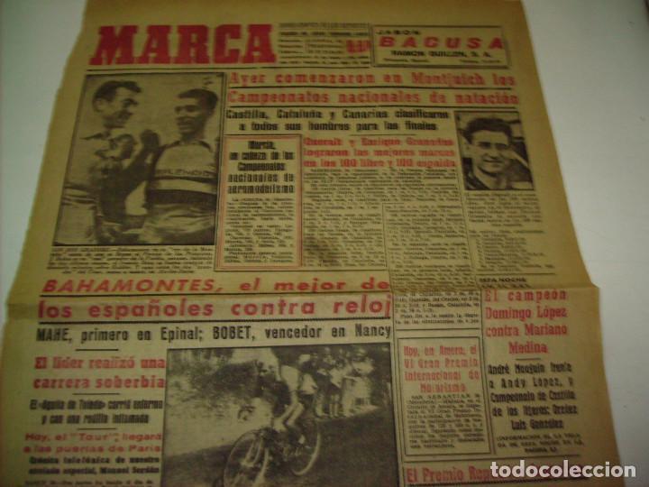 Coleccionismo deportivo: 29 PORTADAS DIARIO MARCA AÑOS 1954 Y 1955 - Foto 17 - 189396445