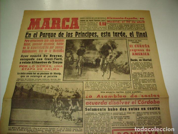 Coleccionismo deportivo: 29 PORTADAS DIARIO MARCA AÑOS 1954 Y 1955 - Foto 18 - 189396445
