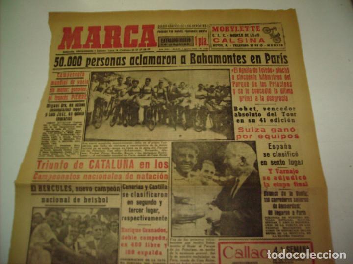 Coleccionismo deportivo: 29 PORTADAS DIARIO MARCA AÑOS 1954 Y 1955 - Foto 19 - 189396445