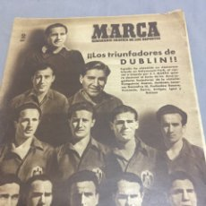Coleccionismo deportivo: 14-6-1949 IRLANDA ESPAÑA HOMENAJE ESCOLA BARCELONA OPORTO. Lote 189482845