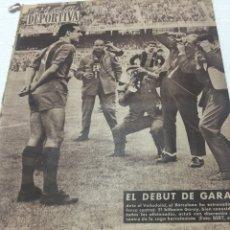 Coleccionismo deportivo: 19-9-1960 DEBUT GARAY BARCELONA VALLADOLID ESPAÑOL SEVILLA. Lote 189504865
