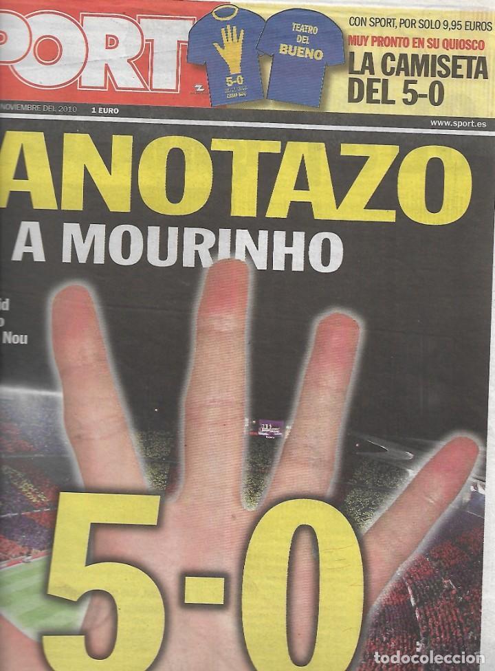 BARÇA : DIARIO SPORT DEL 30 DE NOVIEMBRE DE 2019. BARÇA 5-REAL MADRID 0 (Coleccionismo Deportivo - Revistas y Periódicos - Sport)