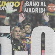 Coleccionismo deportivo: BARÇA: DIARIO MUNDO DEPORTIVO DEL 30 DE NOVIEMBRE DEL 2010. BARÇA 5-REAL MADRID 0. Lote 189882356