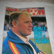Collectionnisme sportif: REVISTA DON BALON N,208 DE OCTUBRE DE 1979 PORTADA KUBALA. Lote 189896857