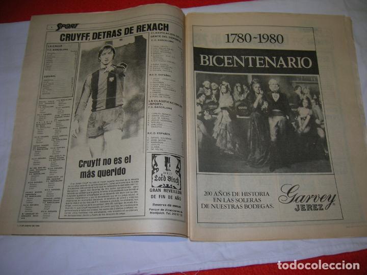 Coleccionismo deportivo: DIARIO SPORT N,57 DE ENERO DE 1980 PORTADA LOS MEJORES DE LOS 70 - Foto 2 - 189916167