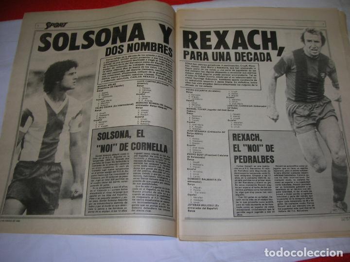 Coleccionismo deportivo: DIARIO SPORT N,57 DE ENERO DE 1980 PORTADA LOS MEJORES DE LOS 70 - Foto 4 - 189916167
