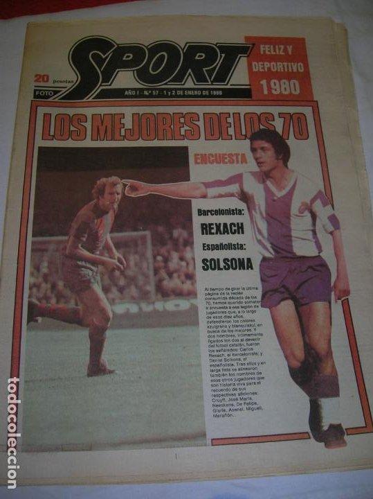 DIARIO SPORT N,57 DE ENERO DE 1980 PORTADA LOS MEJORES DE LOS 70 (Coleccionismo Deportivo - Revistas y Periódicos - Sport)