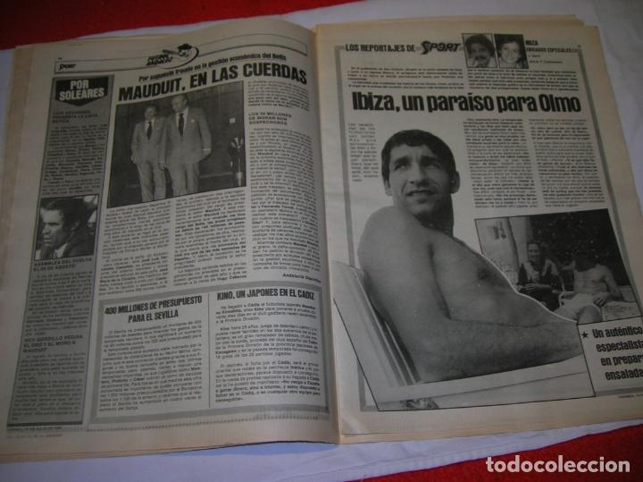 Coleccionismo deportivo: DIARIO SPORT N,590 DE JULIO DE 1981 PORTADA OLMO BAJO EL SOL - Foto 2 - 189916538