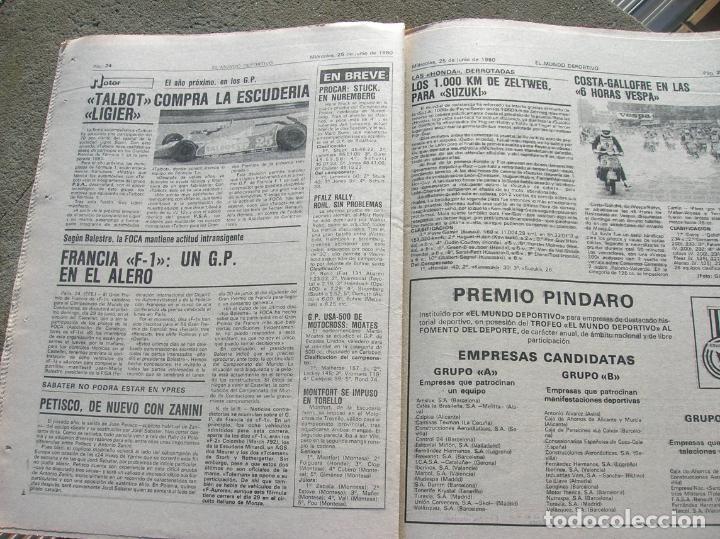 Coleccionismo deportivo: DIARIO MUNDO DEPORTIVO N,17640 DE JUNIO DE 1980 - Foto 2 - 189985866