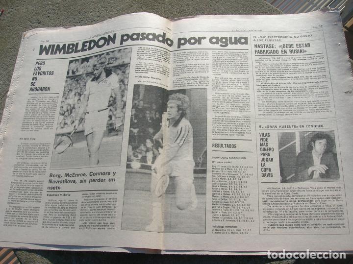 Coleccionismo deportivo: DIARIO MUNDO DEPORTIVO N,17640 DE JUNIO DE 1980 - Foto 3 - 189985866