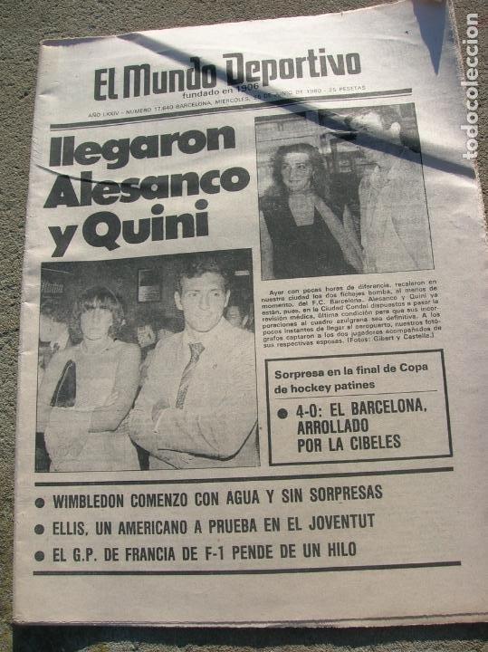 DIARIO MUNDO DEPORTIVO N,17640 DE JUNIO DE 1980 (Coleccionismo Deportivo - Revistas y Periódicos - Mundo Deportivo)