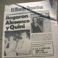 Coleccionismo deportivo: DIARIO MUNDO DEPORTIVO N,17640 DE JUNIO DE 1980. Lote 189985866
