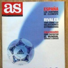 Coleccionismo deportivo: REVISTA GUIA DIARIO AS MUNDIAL FRANCIA 1998 - EXTRA COPA DEL MUNDO FRANCE 98 FIFA WM ESPAÑA. Lote 210708852