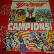 Coleccionismo deportivo: (LLL)SPORT NUMERO EXTRA !!! DEDICADO AL F.C.BARCELONA CAMPEÓN LIGA 90-91 !!!! BARÇA !!!. Lote 190318088