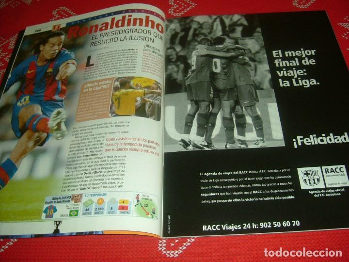 Coleccionismo deportivo: (LLL)SPORT EXTRA ESPECIAL F.C.BARCELONA CAMPEÓN LIGA 2004-05 !!! BARÇA CAMPEÓN !!!CON POSTER - Foto 3 - 190354216