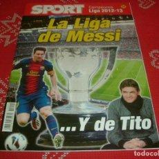 Coleccionismo deportivo: (LLL)SPORT EXTRA ESPECIAL LIGA 2012-13 !!!BARÇA CAMPEÓN,LA LIGA DE MESSI Y TITO !!!. Lote 190354638