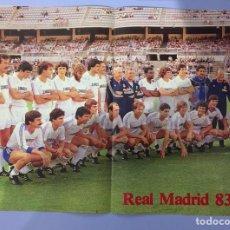 Coleccionismo deportivo: PLANTILLA REAL MADRID TEMPORADA 83-84. Lote 190435400