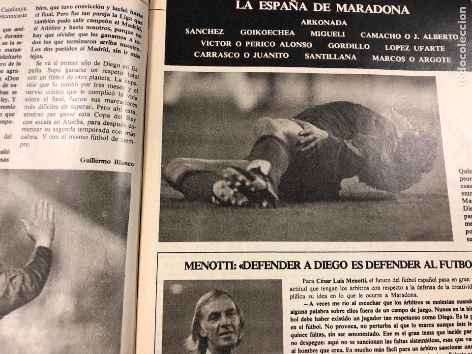Coleccionismo deportivo: DON BALÓN N° 397 (MAYO 1983). MARADONA, SELECCIÓN ESPAÑOLA, MACHO FIGUEROA, REAL MADRID RECOPA - Foto 4 - 190819005