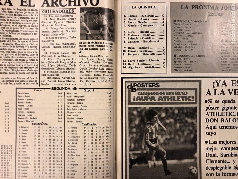 Coleccionismo deportivo: DON BALÓN N° 397 (MAYO 1983). MARADONA, SELECCIÓN ESPAÑOLA, MACHO FIGUEROA, REAL MADRID RECOPA - Foto 5 - 190819005