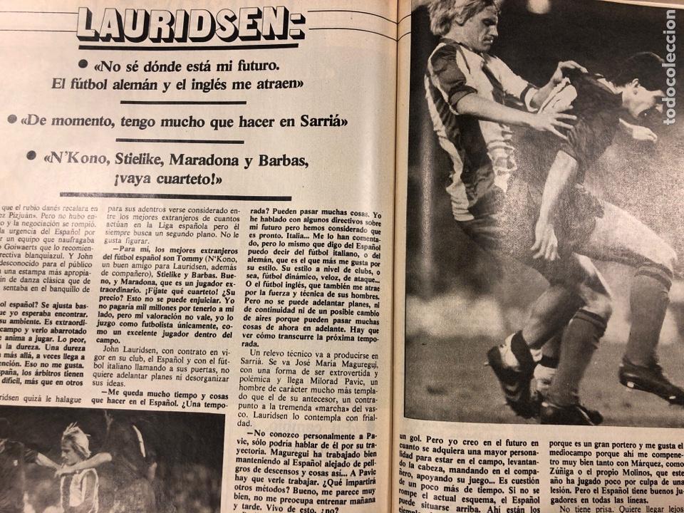 Coleccionismo deportivo: DON BALÓN N° 397 (MAYO 1983). MARADONA, SELECCIÓN ESPAÑOLA, MACHO FIGUEROA, REAL MADRID RECOPA - Foto 8 - 190819005
