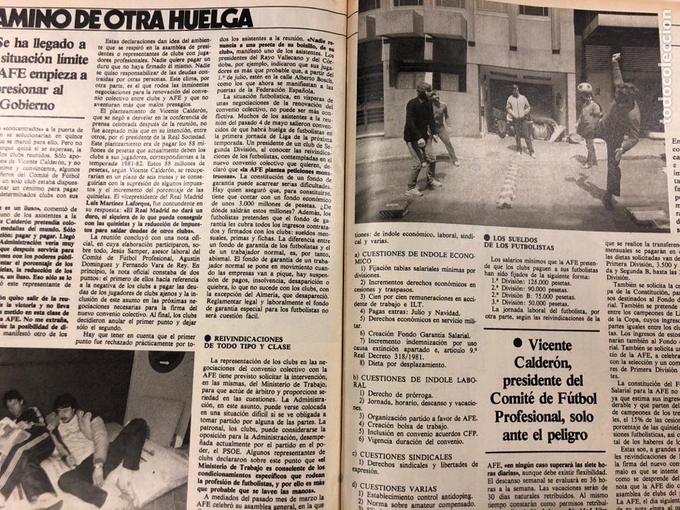 Coleccionismo deportivo: DON BALÓN N° 397 (MAYO 1983). MARADONA, SELECCIÓN ESPAÑOLA, MACHO FIGUEROA, REAL MADRID RECOPA - Foto 9 - 190819005