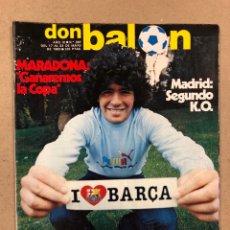Coleccionismo deportivo: DON BALÓN N° 397 (MAYO 1983). MARADONA, SELECCIÓN ESPAÑOLA, MACHO FIGUEROA, REAL MADRID RECOPA. Lote 190819005