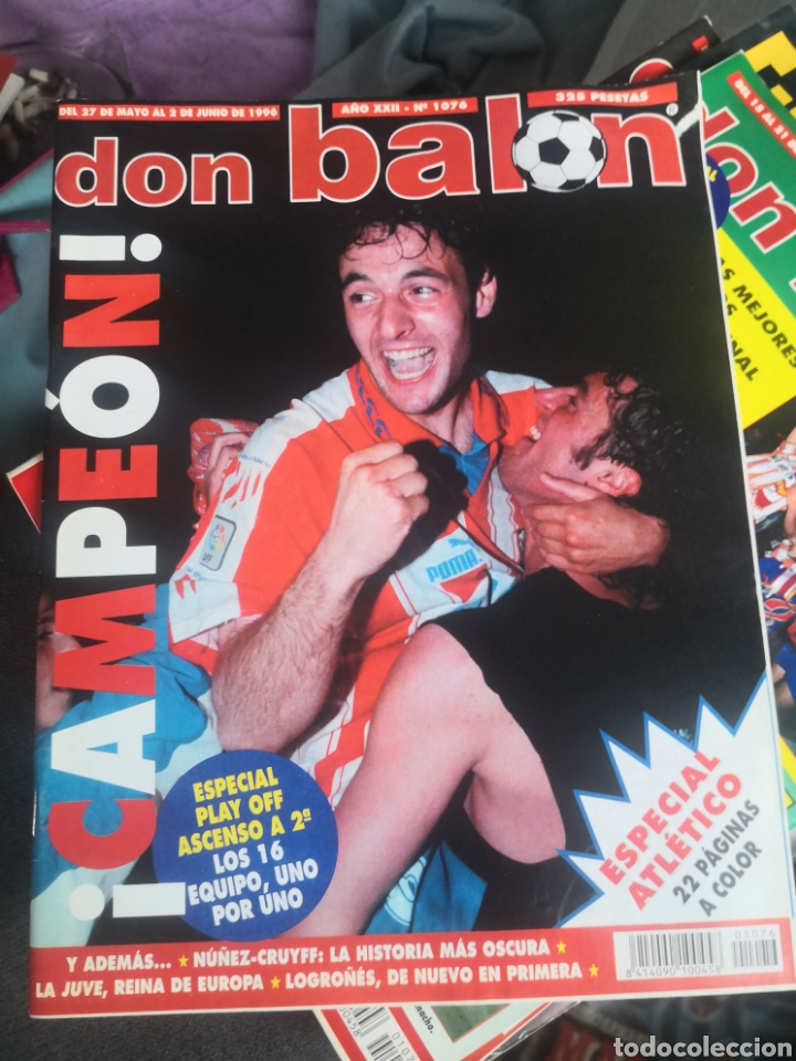 DON BALÓN N 1076, JUNIO 1996,ESPECIAL ATLÉTICO DE MADRID, AT.,CAMPEÓN! CON PÓSTER INTACTO. (Coleccionismo Deportivo - Revistas y Periódicos - Don Balón)