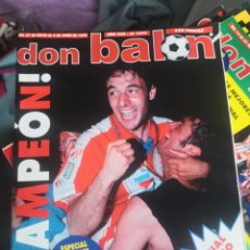 Coleccionismo deportivo: DON BALÓN N 1076, JUNIO 1996,ESPECIAL ATLÉTICO DE MADRID, AT.,CAMPEÓN! CON PÓSTER INTACTO.. Lote 190842531