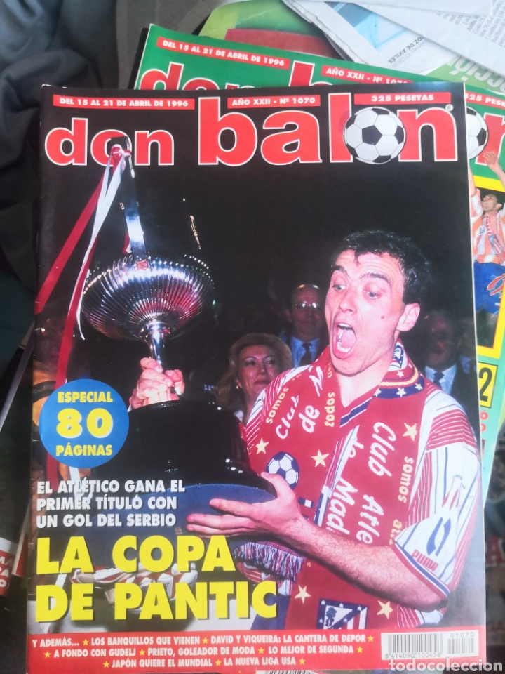 DON BALÓN 1070(1),ABRIL 1996,ESPECIAL ATLÉTICO DE MADRID, AT., LA COPA DE PANTIC. (Coleccionismo Deportivo - Revistas y Periódicos - Don Balón)