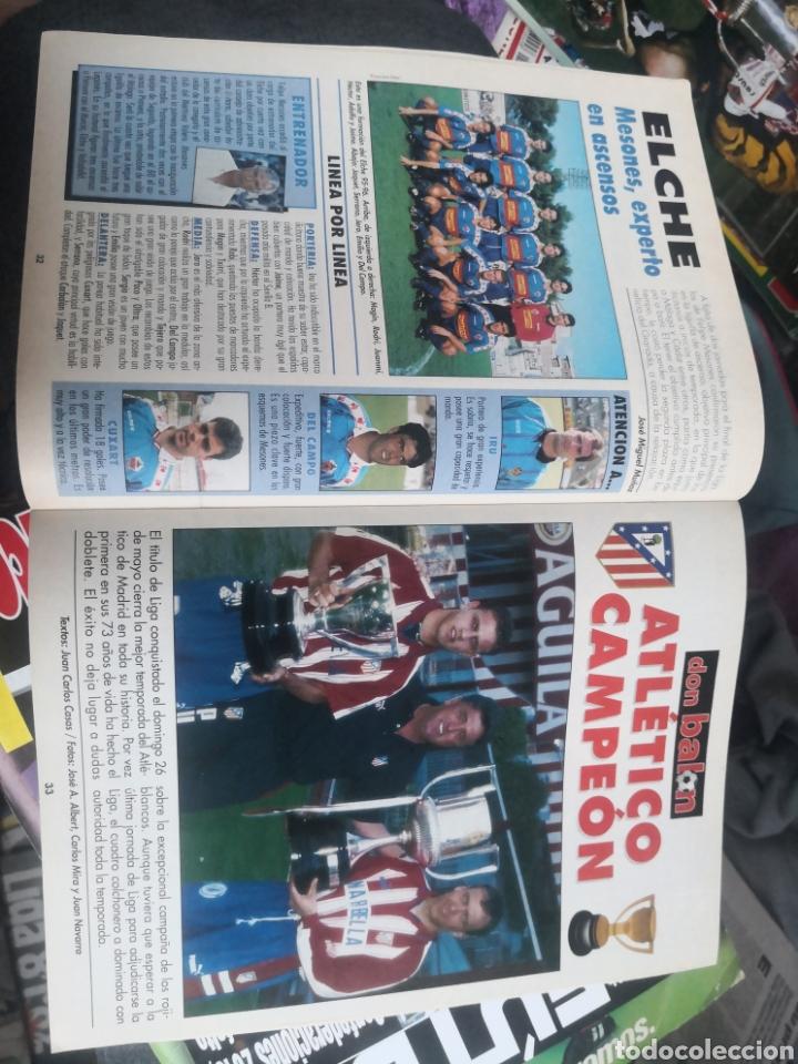 Coleccionismo deportivo: Don balón N°1075,Mayo 1996, Extra ¡CAMPEÓN! Atlético de Madrid, At. Con Póster en interior intacto. - Foto 3 - 190844876