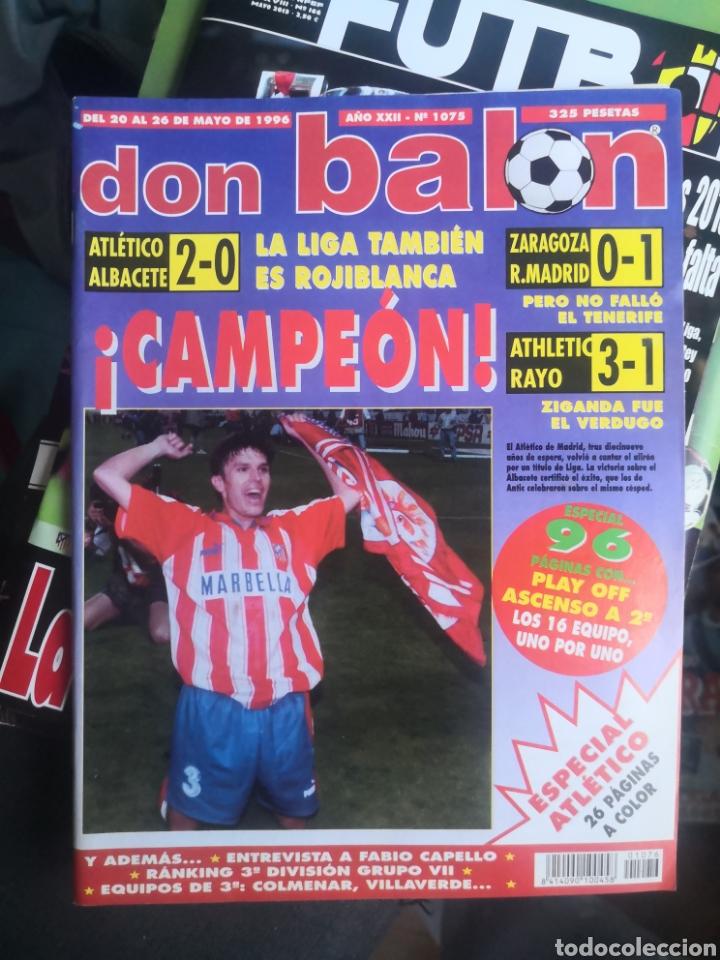 DON BALÓN N°1075,MAYO 1996, EXTRA ¡CAMPEÓN! ATLÉTICO DE MADRID, AT. CON PÓSTER EN INTERIOR INTACTO. (Coleccionismo Deportivo - Revistas y Periódicos - Don Balón)