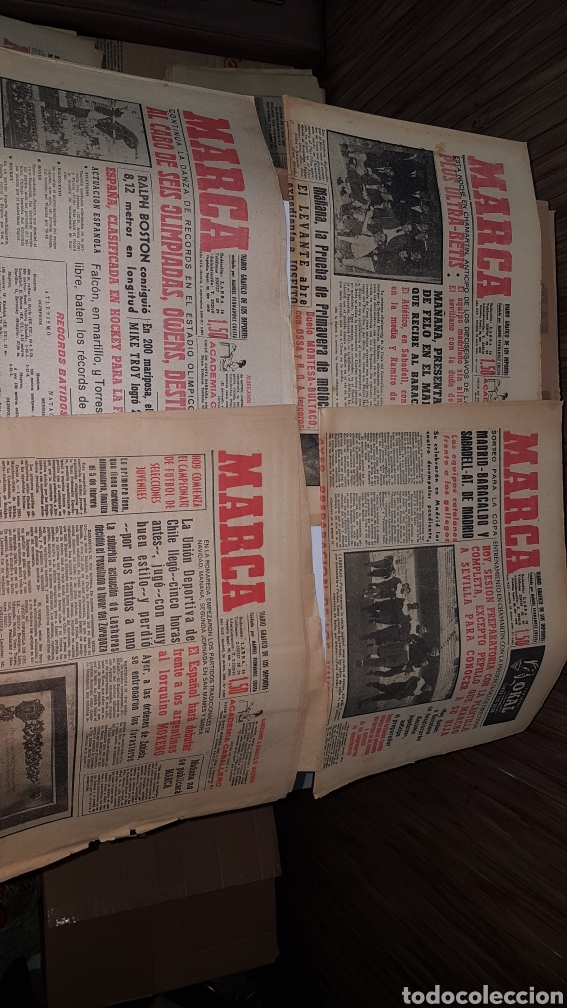 Coleccionismo deportivo: Lote diario Marca 1960 - Foto 3 - 191031160