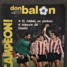 Coleccionismo deportivo: FÚTBOL DON BALÓN 395 - ATHLETIC BILBAO CAMPEÓN LIGA - MURCIA - HUGO SÁNCHEZ - ESPAÑA - SPORTING. Lote 191111665