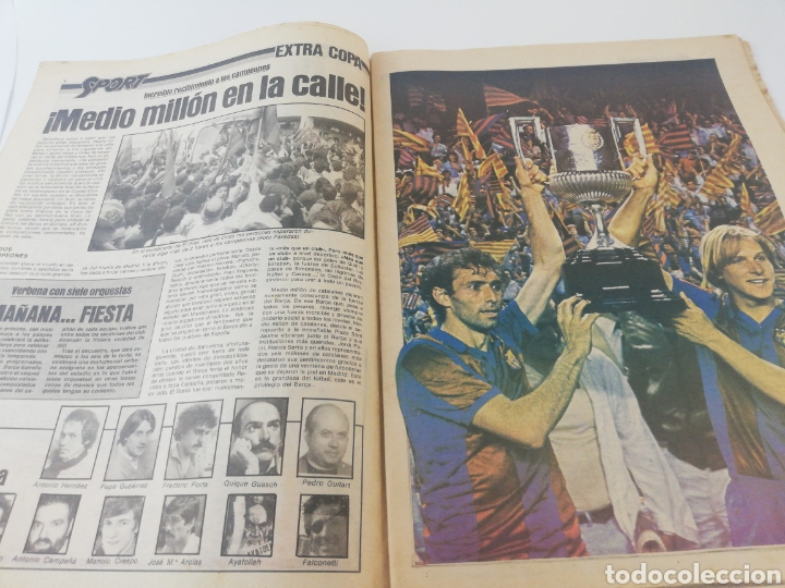 Coleccionismo deportivo: FC BARCELONA SPORTING GIJON EXTRA FINAL COPA DEL REY 80-81 DIARIO SPORT 571 POSTER BARÇA CAMPEON - Foto 2 - 191185342