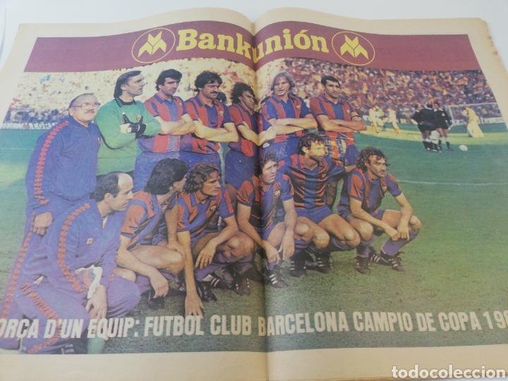 Coleccionismo deportivo: FC BARCELONA SPORTING GIJON EXTRA FINAL COPA DEL REY 80-81 DIARIO SPORT 571 POSTER BARÇA CAMPEON - Foto 3 - 191185342