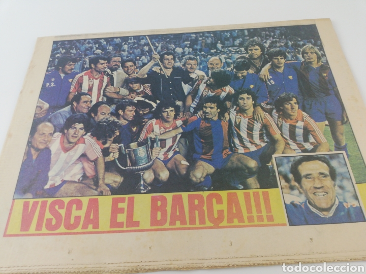 Coleccionismo deportivo: FC BARCELONA SPORTING GIJON EXTRA FINAL COPA DEL REY 80-81 DIARIO SPORT 571 POSTER BARÇA CAMPEON - Foto 4 - 191185342
