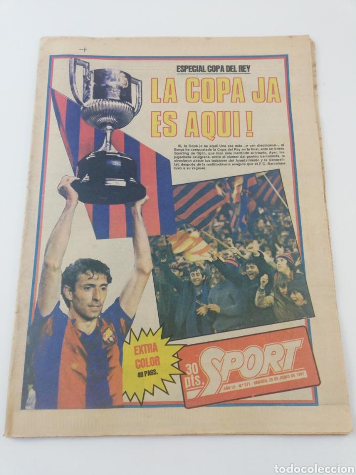 FC BARCELONA SPORTING GIJON EXTRA FINAL COPA DEL REY 80-81 DIARIO SPORT 571 POSTER BARÇA CAMPEON (Coleccionismo Deportivo - Revistas y Periódicos - Sport)