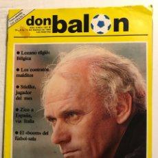 Coleccionismo deportivo: FÚTBOL DON BALÓN 387 - CROMOS SALAMANCA - BARÇA - LOZANO - CELTA - COPAS EUROPEAS - CÁDIZ. Lote 191202051