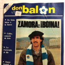 Coleccionismo deportivo: FÚTBOL DON BALÓN 391 - REAL SOCIEDAD - POSTER AMARILLA ZARAGOZA - BARÇA - MADRID - ATHLETIC - ATLETI. Lote 191203548
