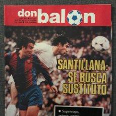 Coleccionismo deportivo: FÚTBOL DON BALÓN 381 - CROMOS RACING - SANTILLANA - ARTECHE ATLÉTICO - BURGOS - ELCHE - ÁLBUM. Lote 191215350