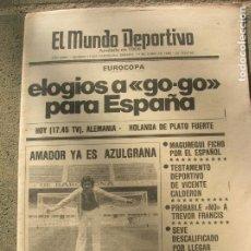 Coleccionismo deportivo: DIARIO MUNDO DEPORTIVO N, 17631 DE JUNIO DE 1980. Lote 191331453