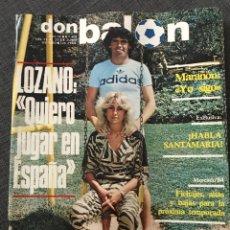 Coleccionismo deportivo: FÚTBOL DON BALÓN 402 - LOZANO - LAS PALMAS - ESPANYOL - GÓMES - CESAR BARÇA - IPSWICH - KUBALA. Lote 191334195