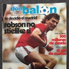 Coleccionismo deportivo: FÚTBOL DON BALÓN 401 - BARÇA CAMPEÓN COPA Y PÓSTER - MADRID - ZICO - PAHIÑO - INTER - DÍAZ MIGUEL. Lote 191337075
