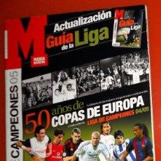 Collectionnisme sportif: GUIA MARCA LIGA FÚTBOL ACTUALIZACIÓN 2004 2005 04/05 LIGA CAMPEONES CHAMPIONS LEAGUE COPA EUROPA. Lote 191339701